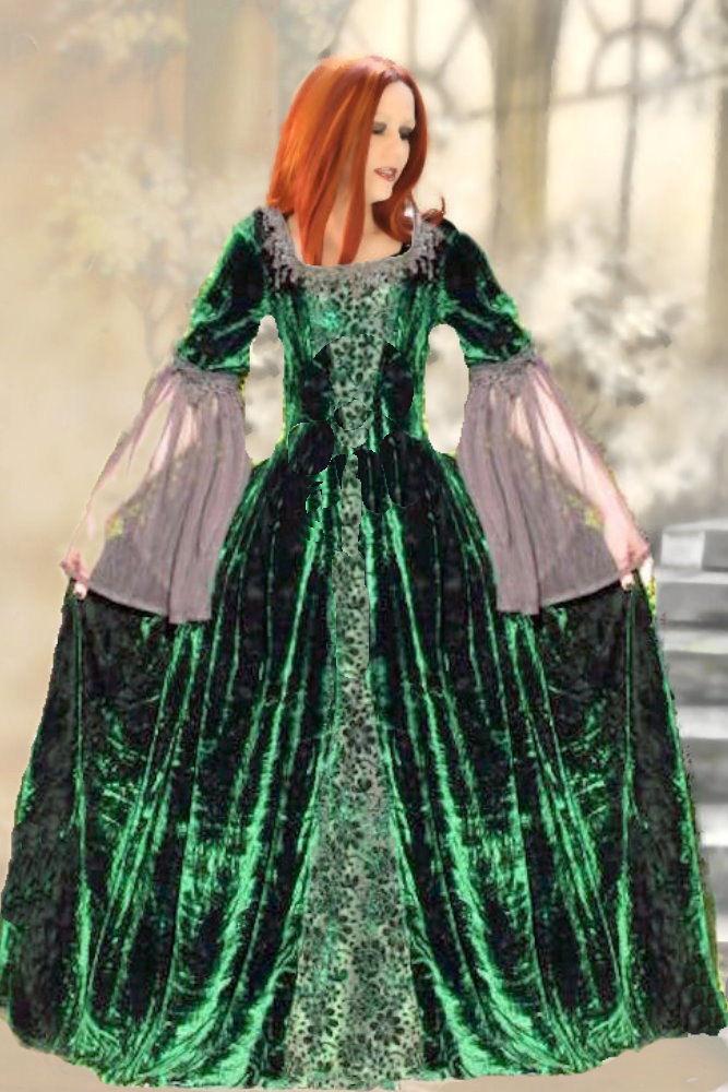 ... barockes Samt Kleid Ballkleid Hochzeitskleid grün 38 40 Neu  eBay