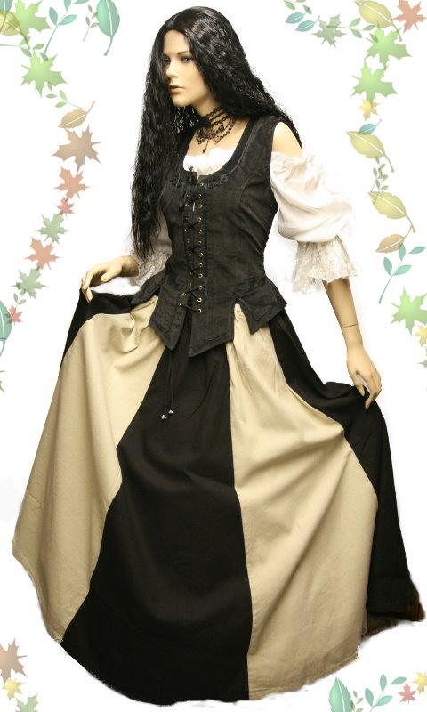 Details zu gothic mittelalter samt mieder kleid market 36 38 ü
