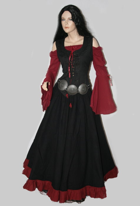 mittelalter gothic kleid gewand bluse mieder rock 40 42. Black Bedroom Furniture Sets. Home Design Ideas