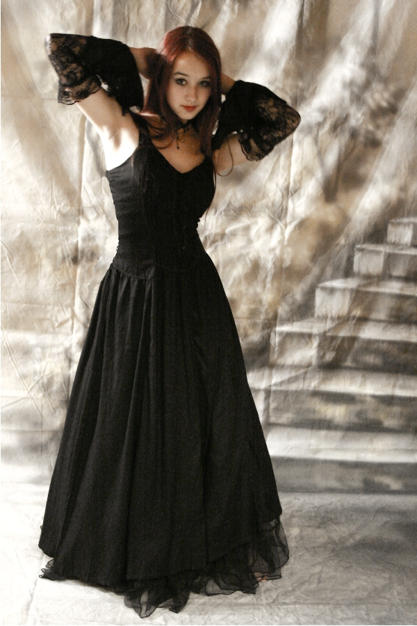 Gothic kleid lang gunstig